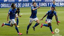 Sangalli celebra el 2-1 ante Las Palmas