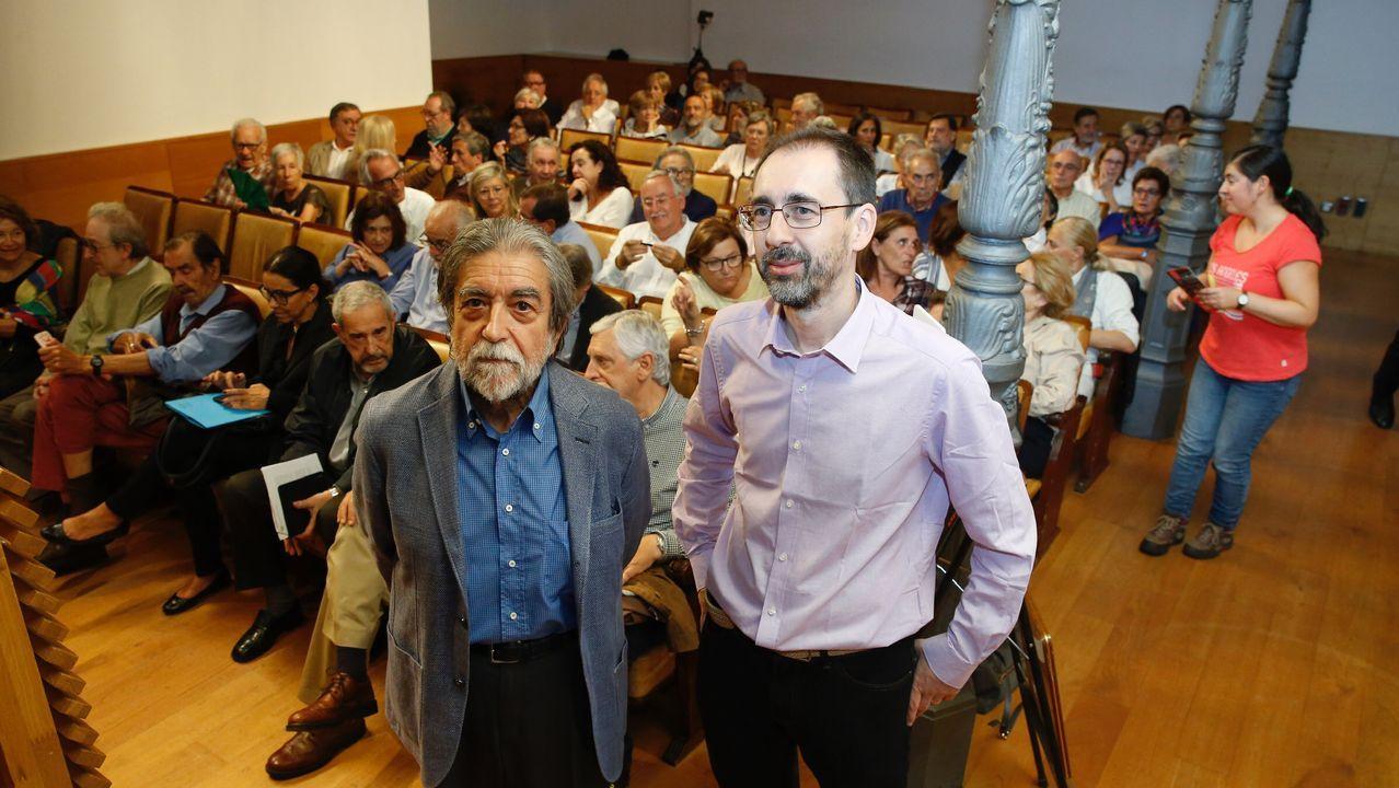 Lara Martínez y Ramón Avello, hoy, en la presentación de la temporada de la Sociedad Filarmónica de Gijón