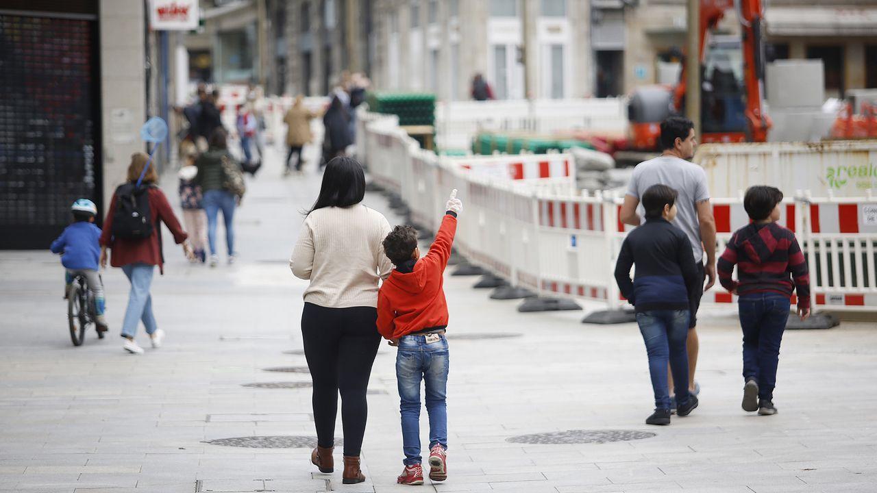 Ambiente en las calles de Vigo