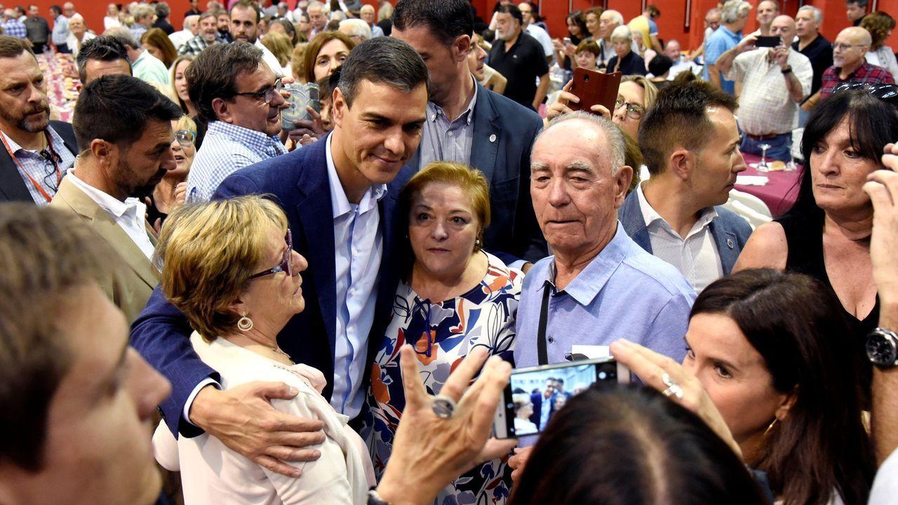 Pedro Sánchez, este martes, durante un mitin en Huesca