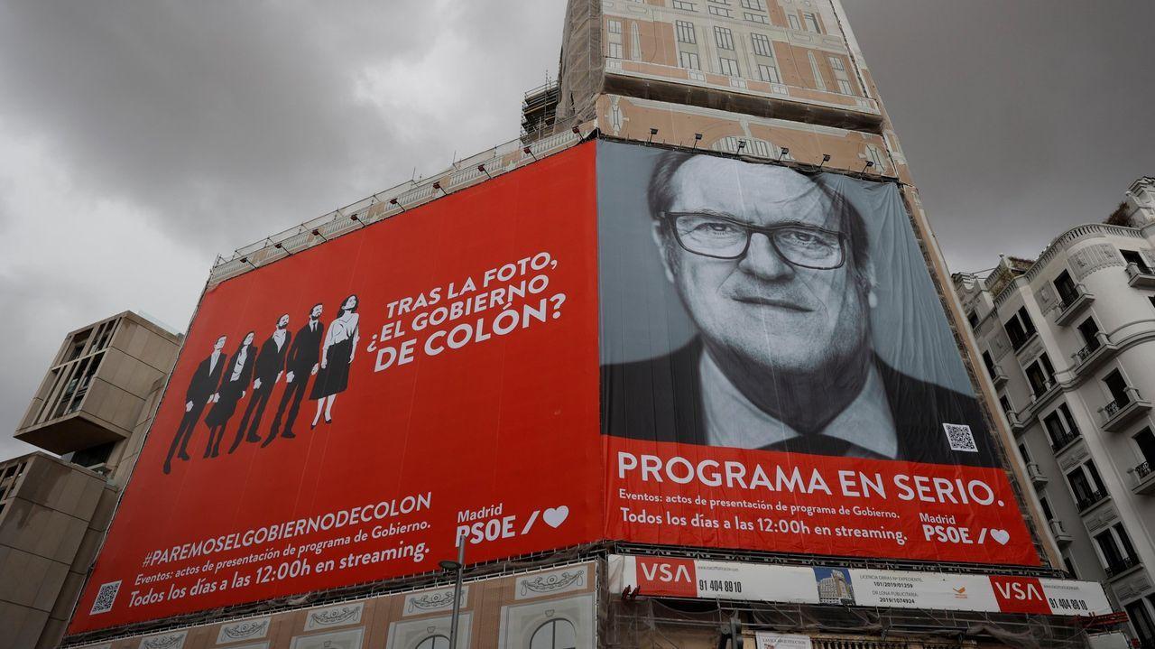El cartel de Ángel Gabilondo para la campaña electoral del 4M.