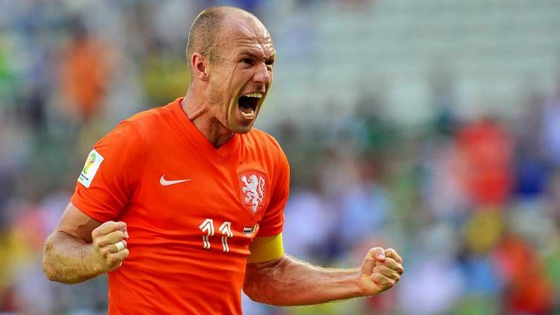 Robben, en el entrenamiento del lunes