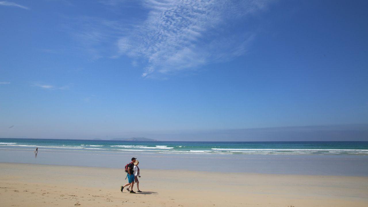 El último fin de semana de mayo se batieron récords de temperatura en A Coruña (en la foto, Riazor)