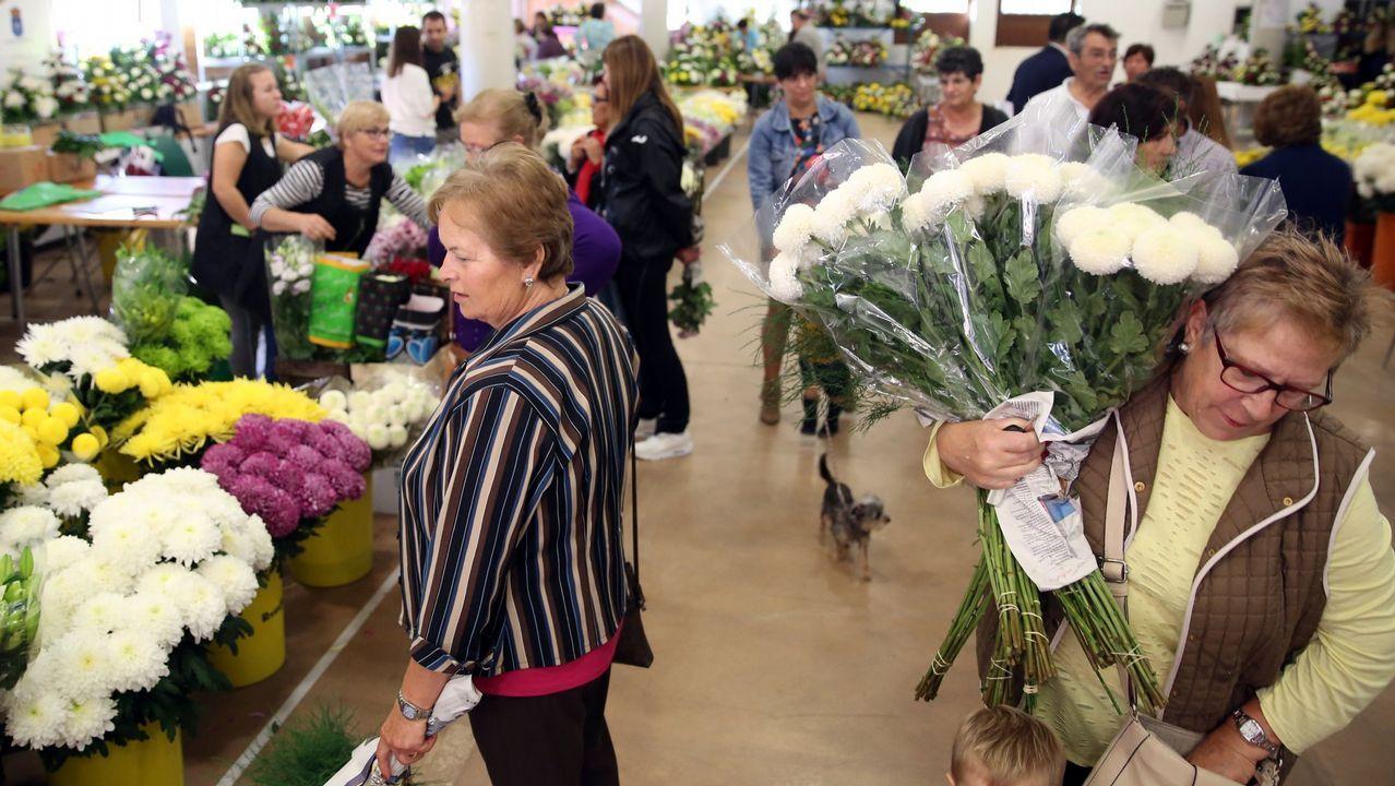 El día de Todos los Santos llena el cementeriode flores.Una usuaria ha colocado un cartel pidiendo que paren los robos