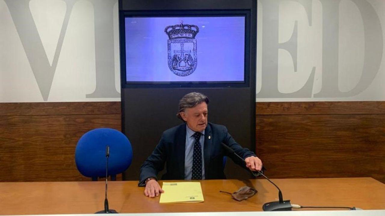La historia dela Escandalera, en imágenes.José Ramón Prado, concejal de Seguridad Ciudadana del Ayuntamiento de Oviedo