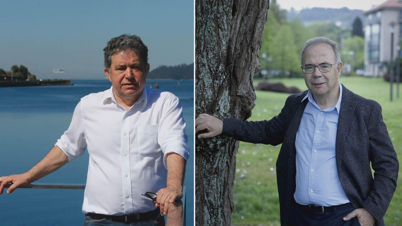 Los tres alcaldes vinculados a las mareas en Galicia, en una imagen tomada en junio del 2017