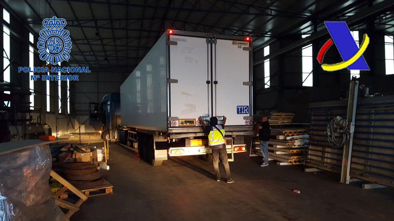 Imagen de archivo del camión que portaba en 2017 el mayor alijo de heroína hallado en Galicia en los últimos años