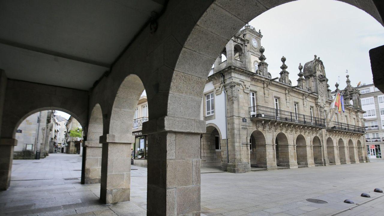 Foto de archivo de la fachada del consistorio lucense