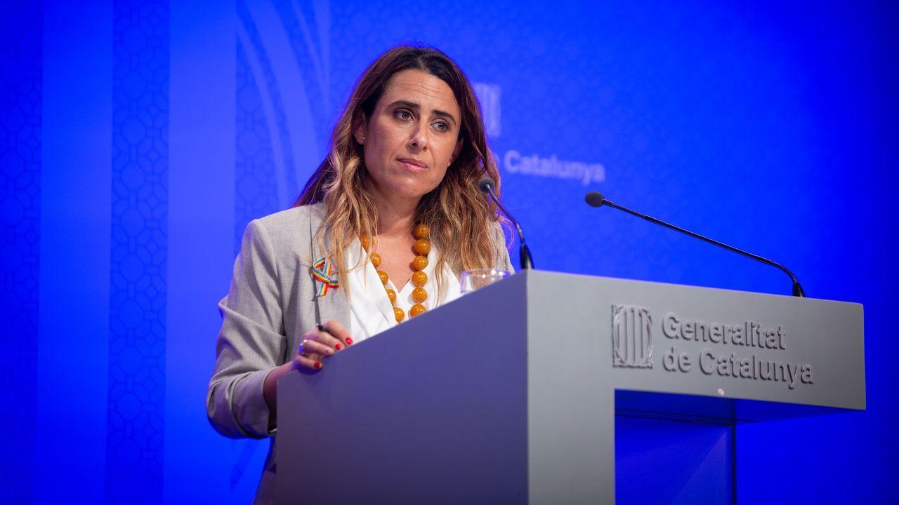 La portavoz del Gobierno de Cataluña, Patrícia Plaja