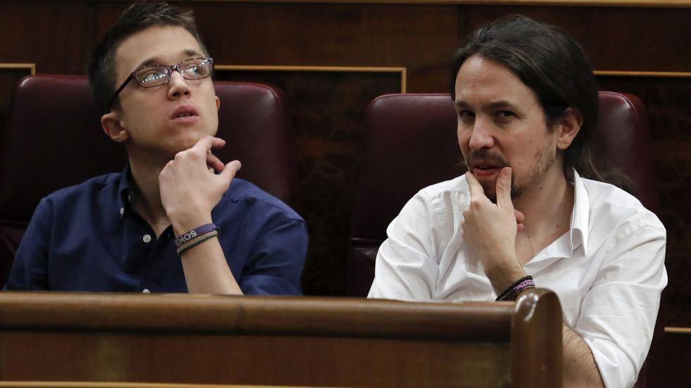 Errejón reaparece.Carolina Bescansa con su bebé el día en que se constituyó el Congreso