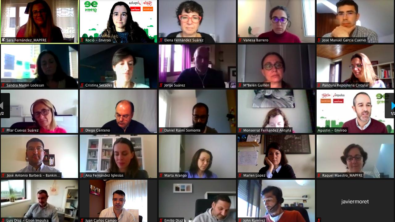 Uno de los grupos de trabajo participantes en el Greenweekend Gijón 2020