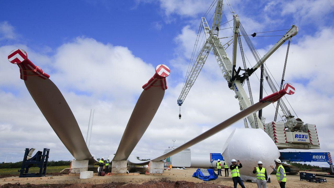 Los trabajos de construcción de un parque eólico, por dentro