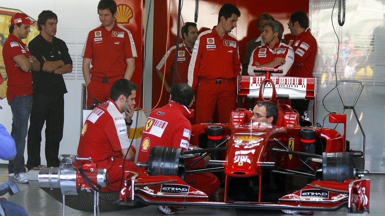 Alonso ya con la escudería Ferrari