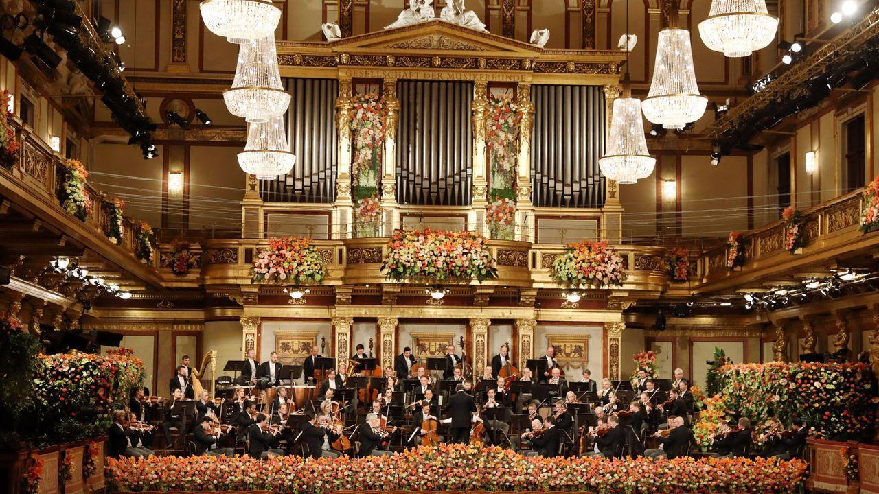 omic.El sector de la música experimentó una caída del 76 %. En la imagen, el Concierto de Año Nuevo de Viena