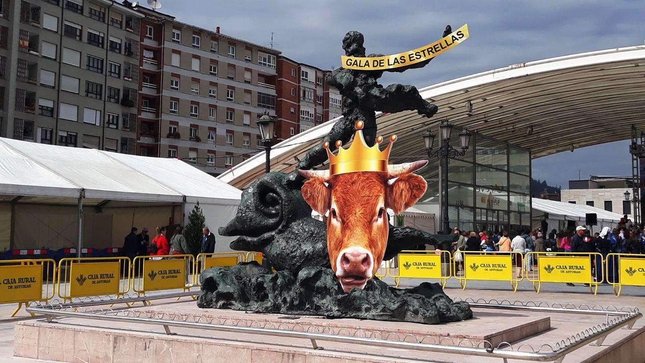 Tranquilidad en Asturias durante la primera noche sin el estado de alarma.Una imagen de archivo de la Feria de la Ascensión de Oviedo