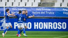 gol Ortuño Sangalli Luismi Tejera Real Oviedo Mirandes Carlos Tartiere.Alfredo Ortuño celebra su gol frente al Mirandés