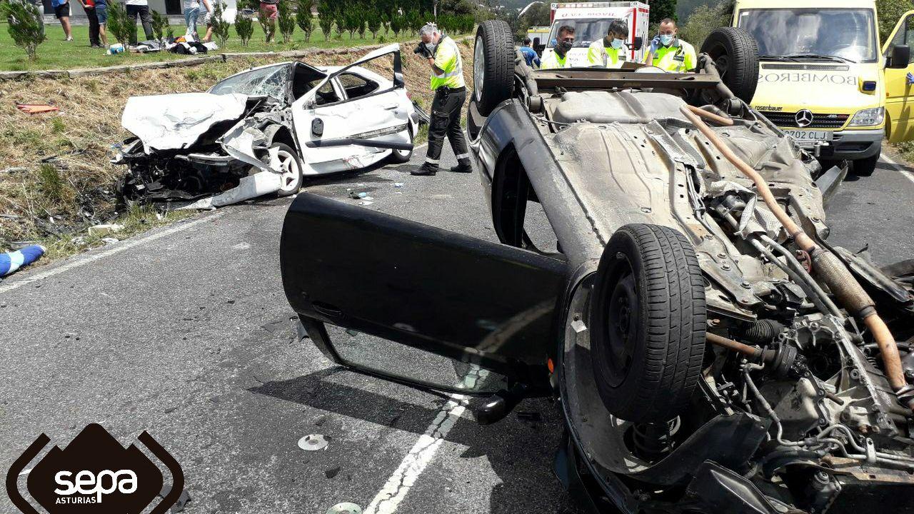 Accidente de tráfico en Coaña, Asturias