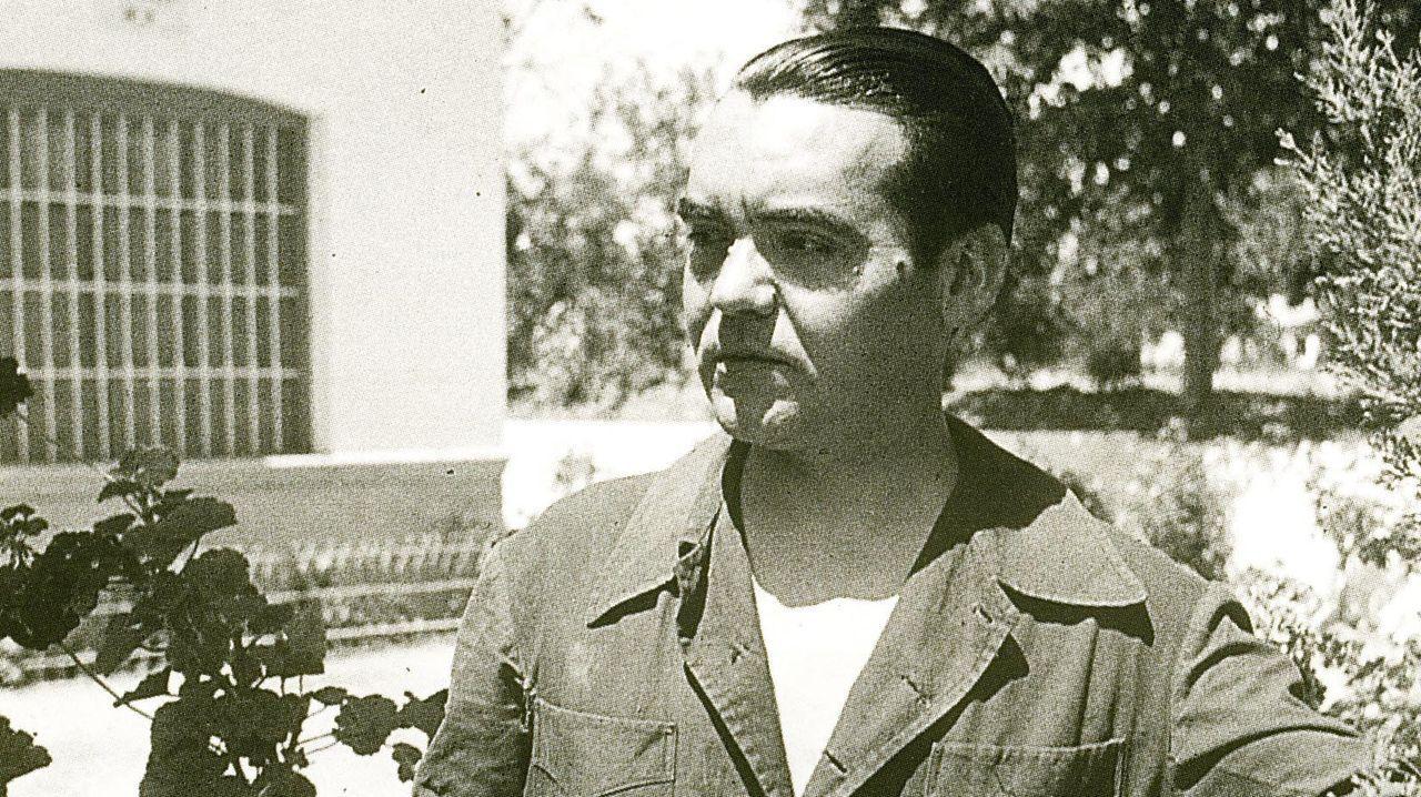 Detalle dun dos retratos que Blanco Amor lle fixo a García Lorca en 1935
