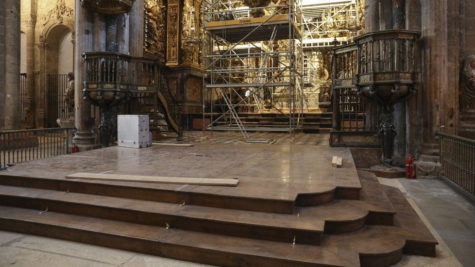 La catedral tiene varias obras en marcha en la actualidad, como en el altar mayor
