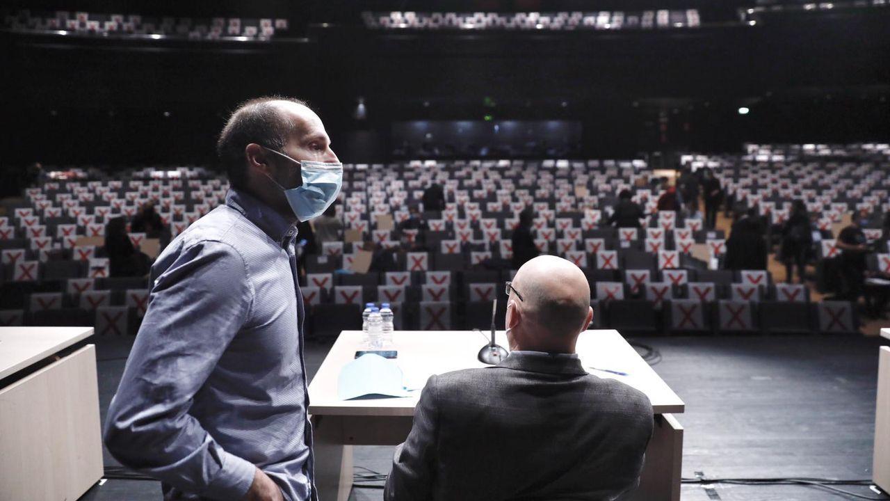 Gonzalo Pérez Jácome, en el Auditorio, donde el Concello de Ourense ha celebrado sus últimos plenos