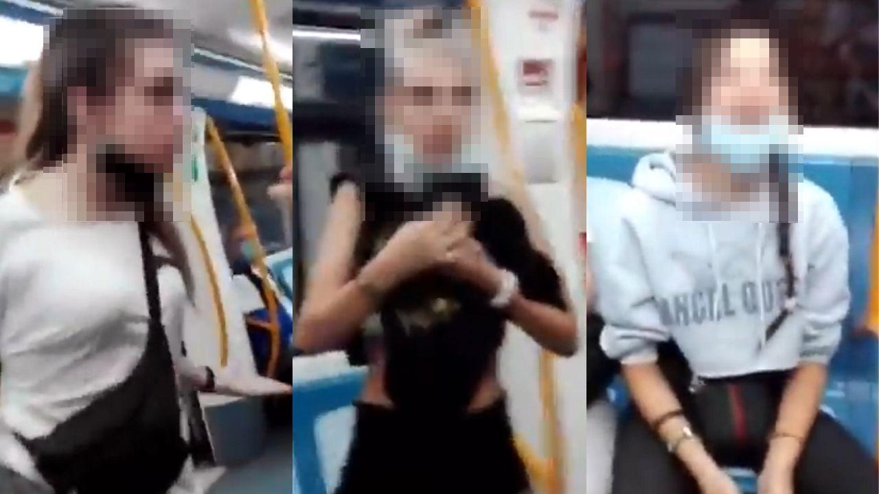 Las tres jóvenes que protagonizaron un incidente racista en el metro de Madrid