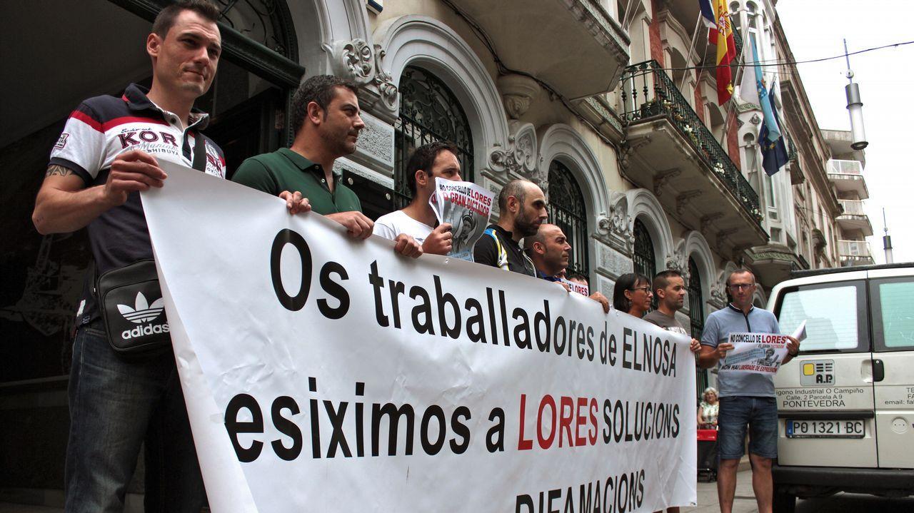 Manifestación en Barcelona.Adrián Barbón y José María Pérez, en el sede de la FSA