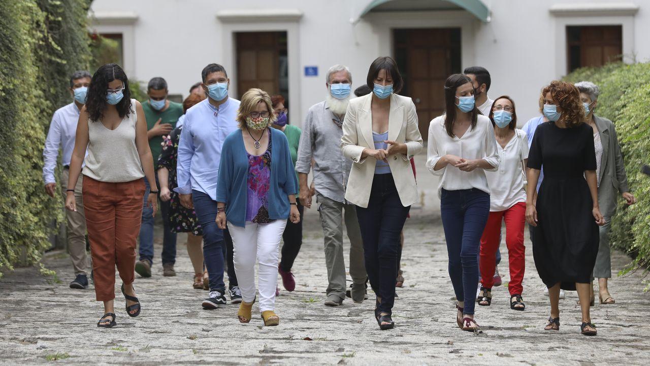 Así arrancó la undécima legislaturagallega.Los integrantes del grupo del BNG en el Parlamento de Galicia
