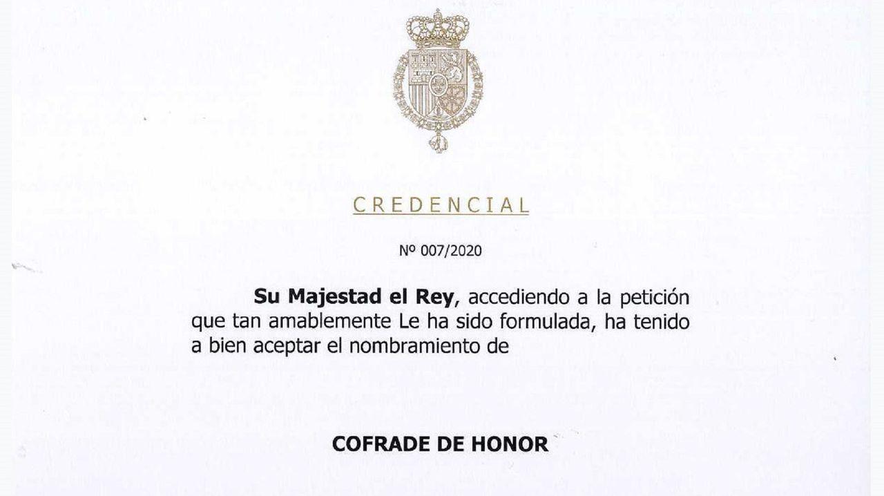 En la imagen, un detalle de la carta emitida por la Casa Real el pasado 14 de enero aceptando el nombramiento