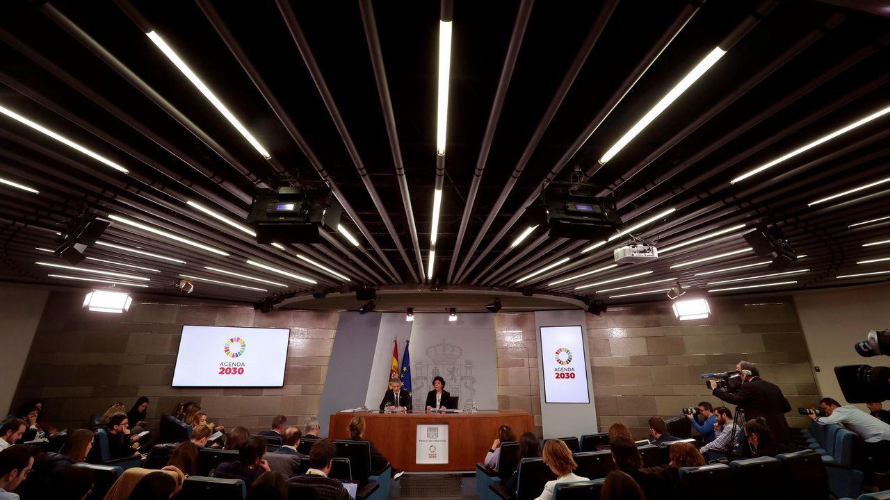 Rueda de prensa, hoy en La Moncloa, posterior al Consejo de Ministros