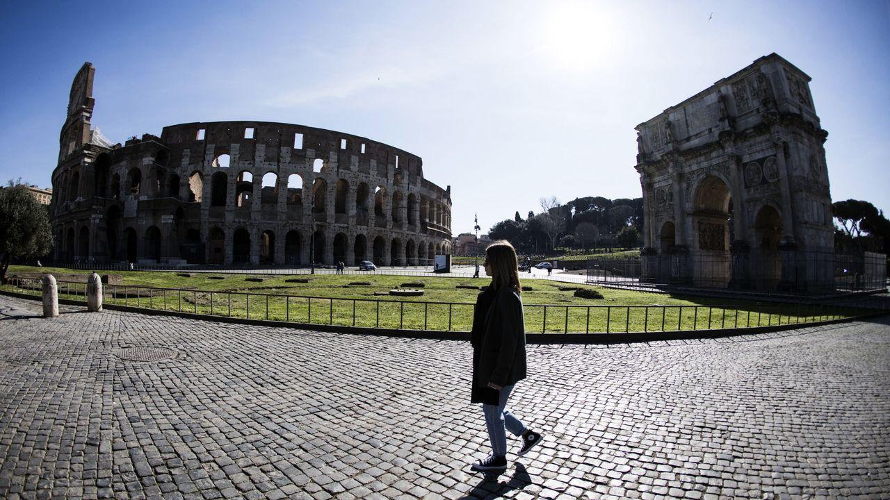 Calles vacías en Roma