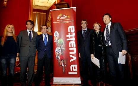 Presentación en Santiago, el pasado día 30 de enero, de la etapa final de la Vuelta Ciclista a España, que llegará a Santiago el próximo 14 de septiembre.