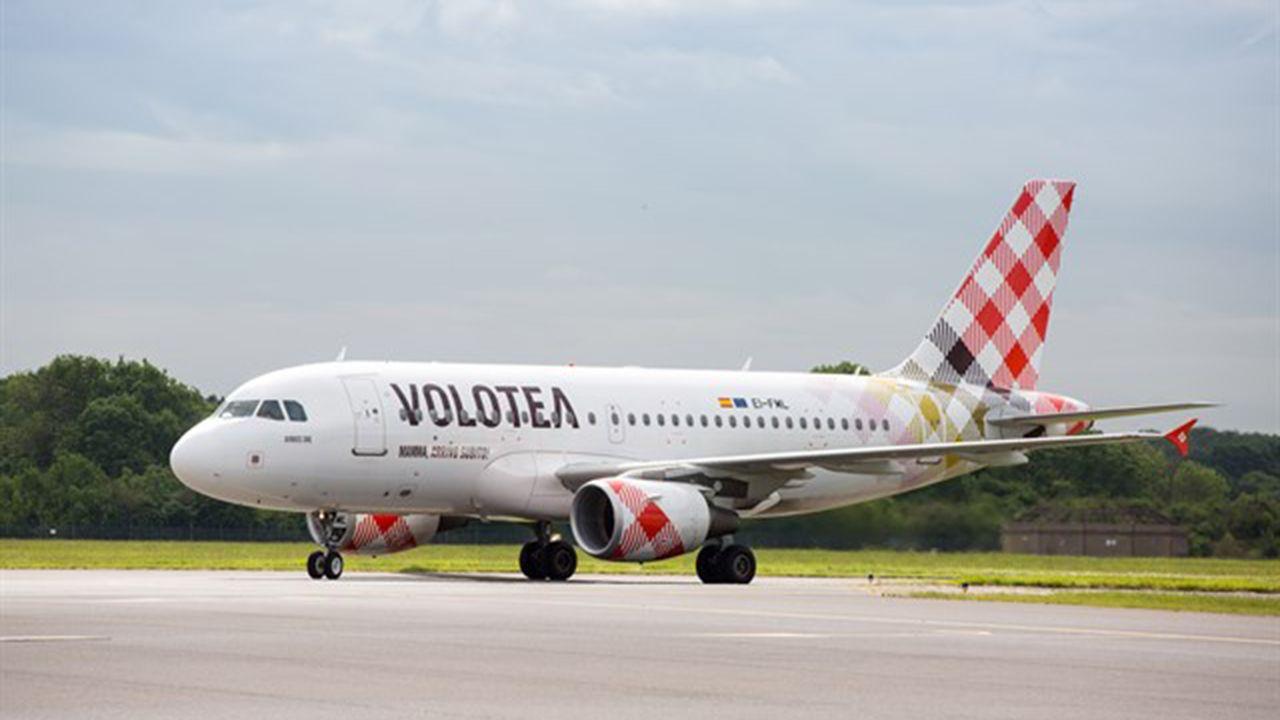 Un avión de Volotea