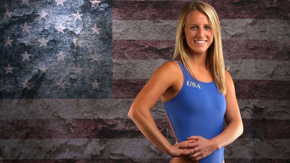 La nadadora Abby Johnston