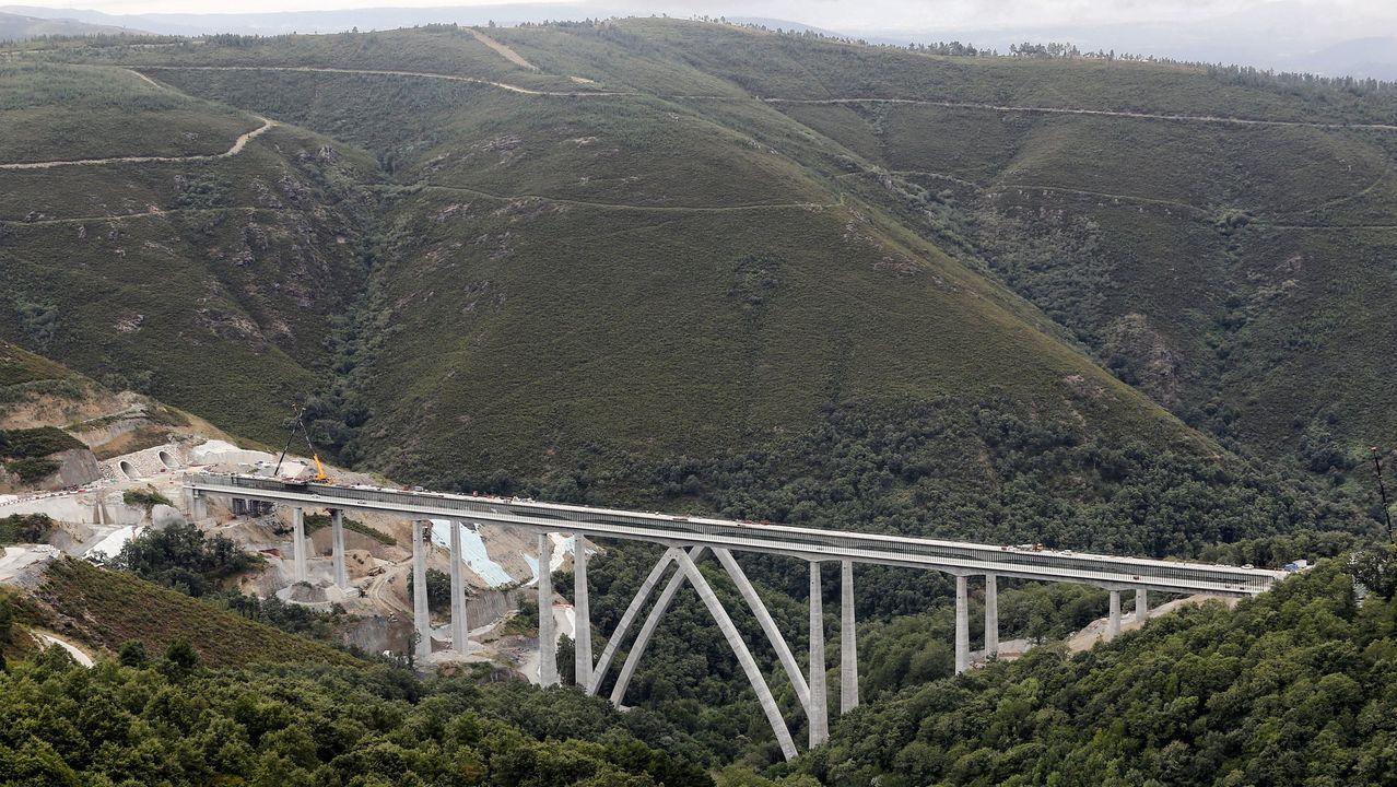 El viaducto de Teixeiras, una de las estructuras que ponían en riesgo las obras del AVE