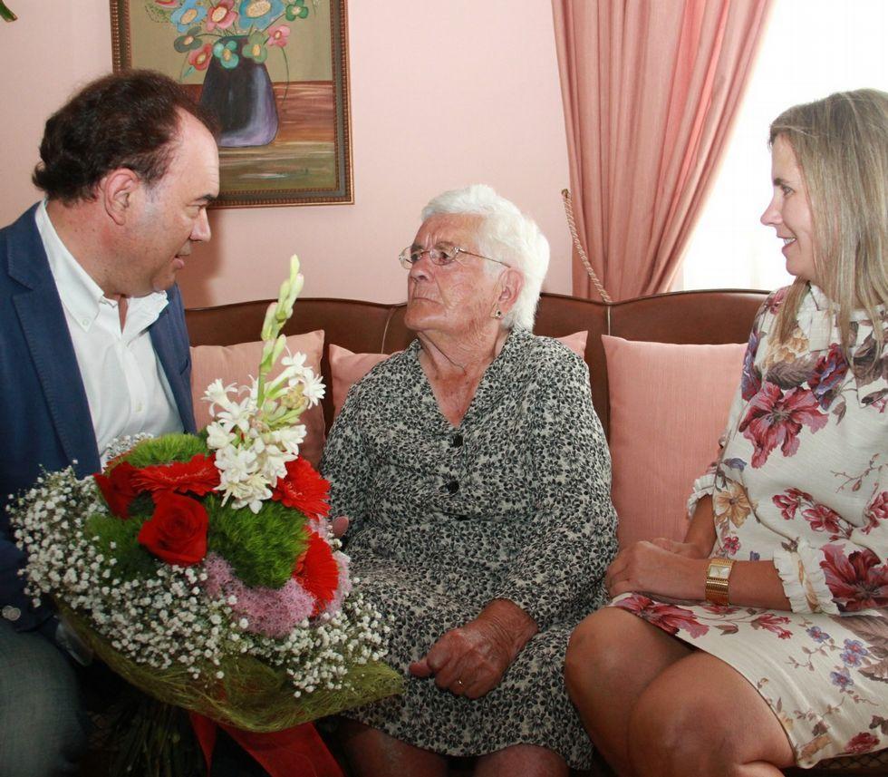 Cruz Bouzas fue la última centenaria agasajada en Lalín en septiembre.