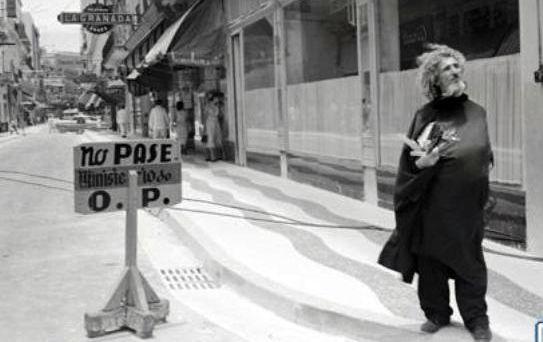José María López Lledín, el Caballer de París, en las calles de la ciudad que amó: La Habana.