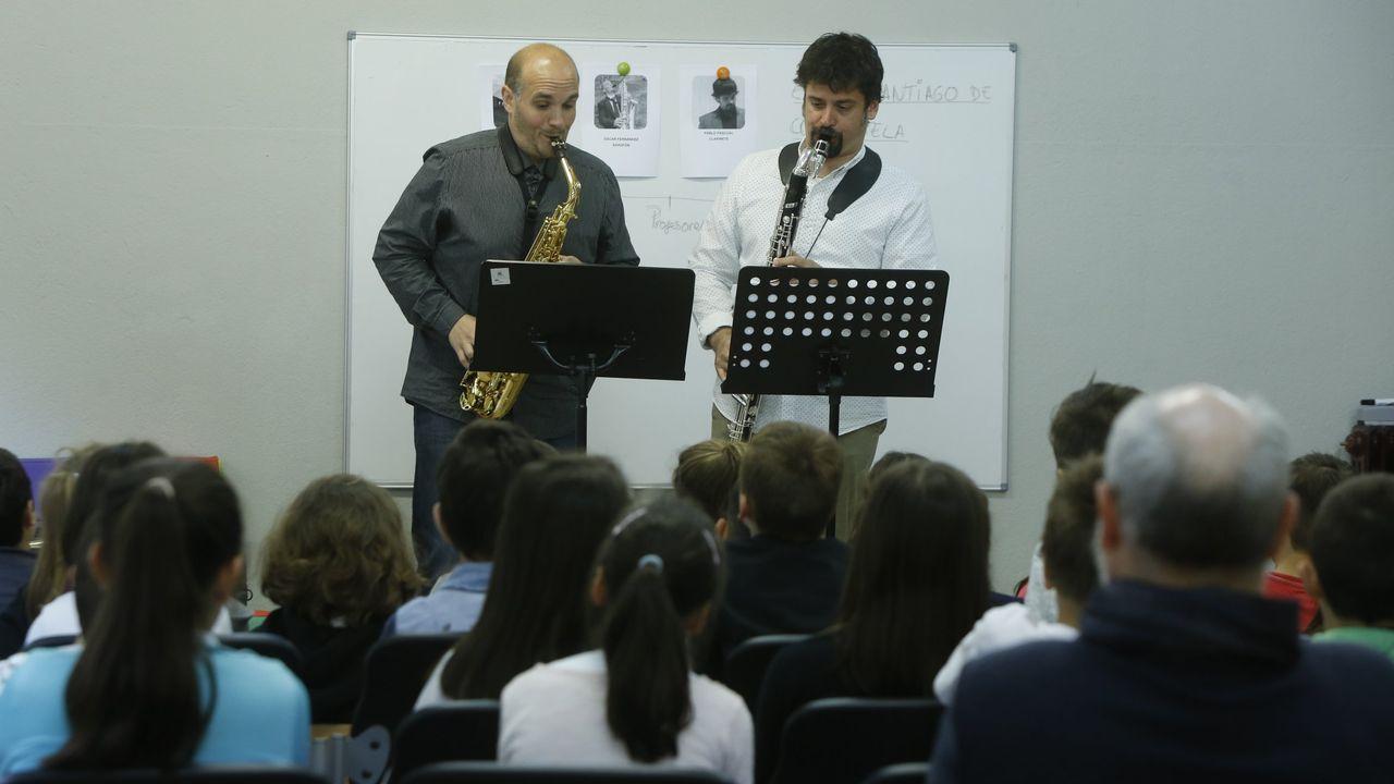 Colección Villagonzalo.Concierto de la Escola Municipal de Música, en foto de archivo