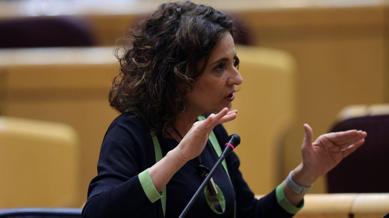 En directo, rueda de prensa posterior al Consejo de Ministros.La ministra de Hacienda, María Jesús Montero, este martes en la sesion de control al Gobierno celebrada en el Senado