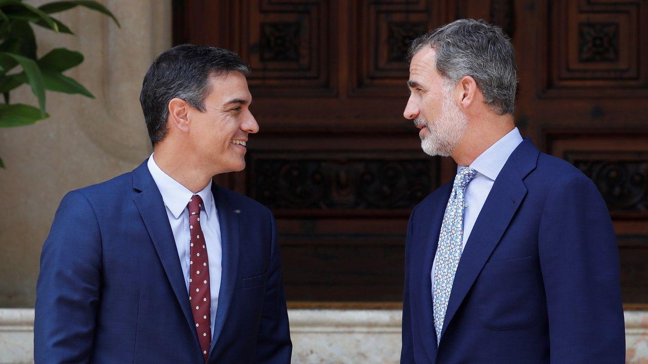 Pedro Sánchez y Felipe VI, en Marivent