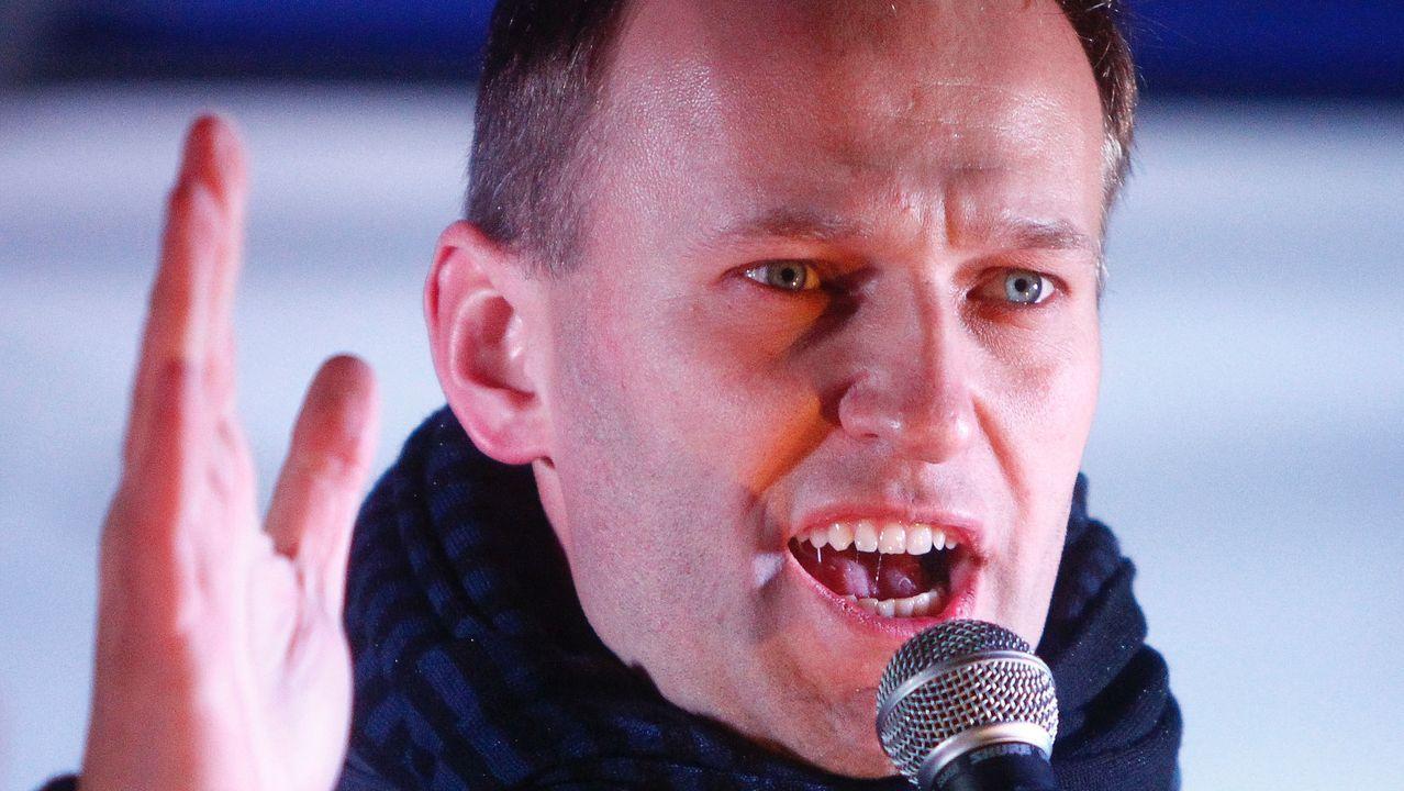 El opositor ruso, actualmente en coma tras ser presuntamente envenenado, Alexei Navalni