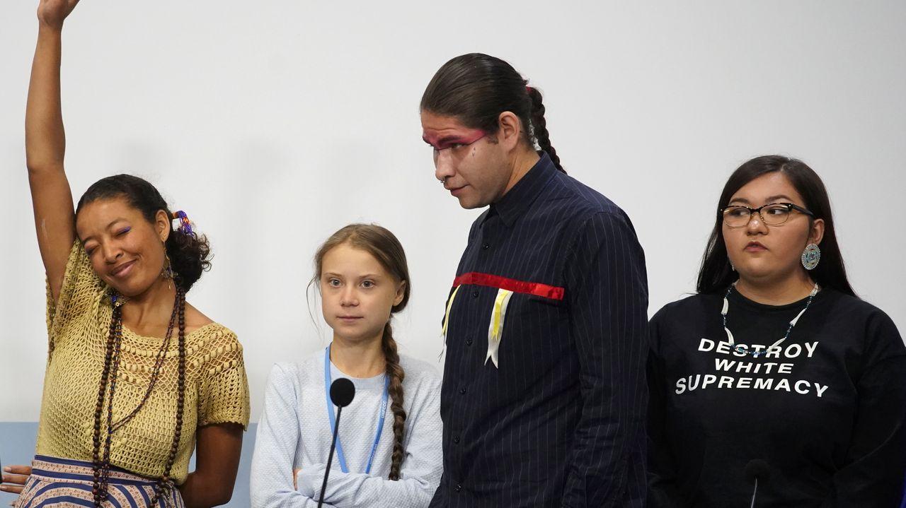 Alejandro Sanz anuncia en la Cumbre del Clima que reducirá las emisiones de CO2 de sus conciertos.Al Gore, durante la cumbre