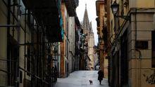 Vista de la calle Mon, en la zona antigua de Oviedo