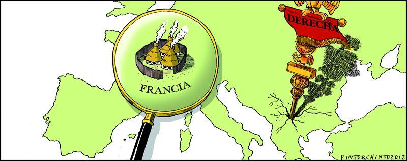 pinto.Hollande, en la ofrenda a los deportados judíos.
