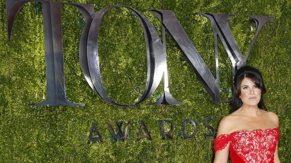 Monica Lewinsky, a su llegada a la gala.