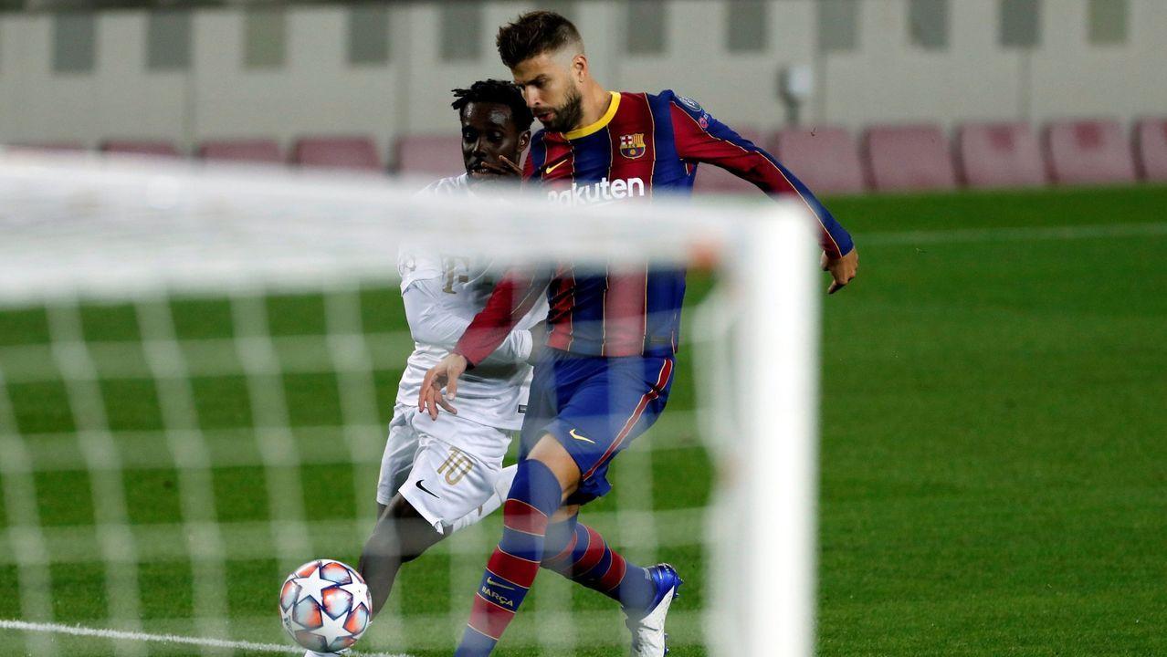 Javi Hernández celebra un gol con el Leganés