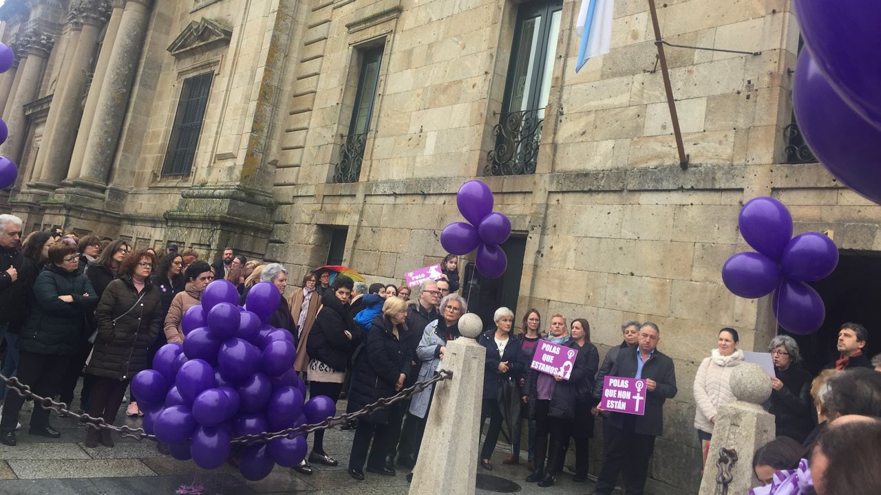 8M Celanova.Concentración en Celanova para conmemorar el Día Internacional da Muller
