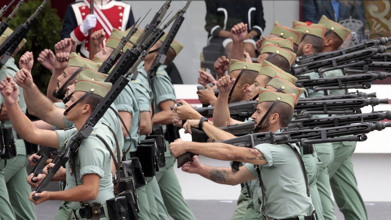 Los cánticos machistas de la Legión