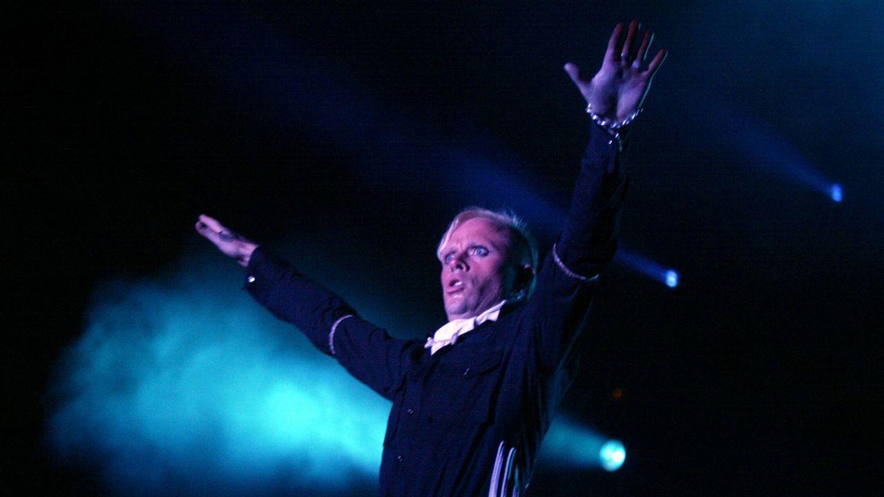 | efe.Keith Flint, en su actuación en Vigo del año 2005