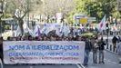 Manifestación contra la ilegalización de Causa Galiza en el 2016