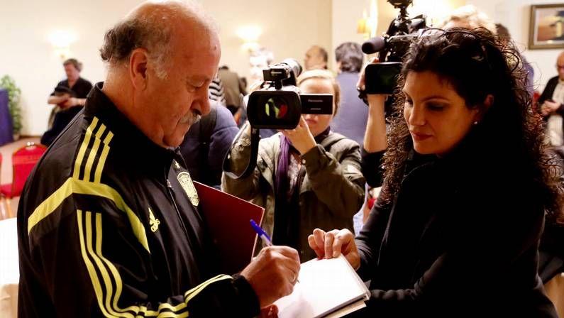 Rueda de prensa de la selección española en el hotel Coia